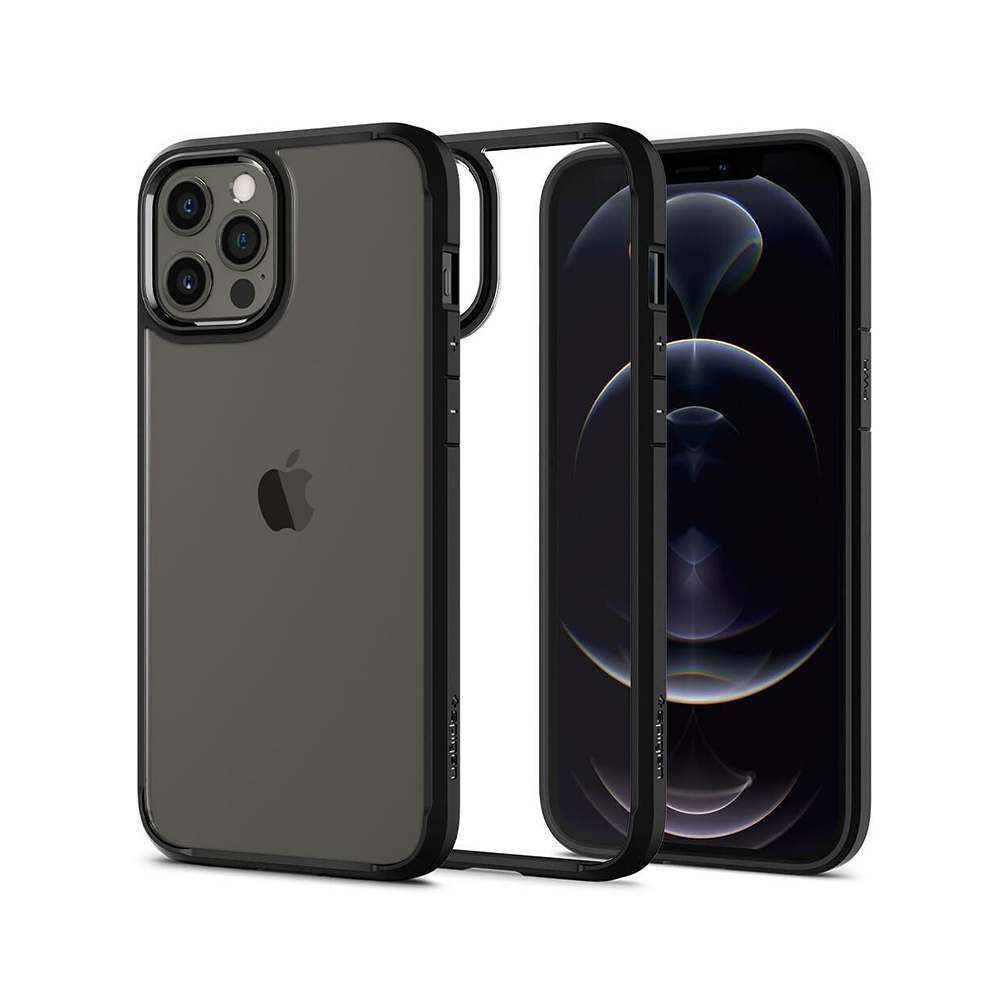 Spigen Ultra Hybrid iPhone 12 Pro Max Matte Black (ACS01619) (SPIACS01619)