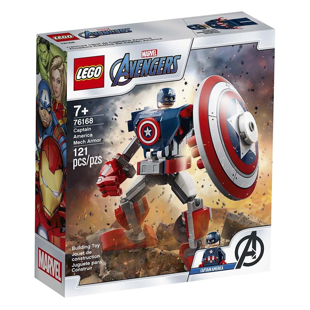 Lego Super Heroes: Marvel Avengers Captain America Mech Armor Set (76168) (LOG76168)