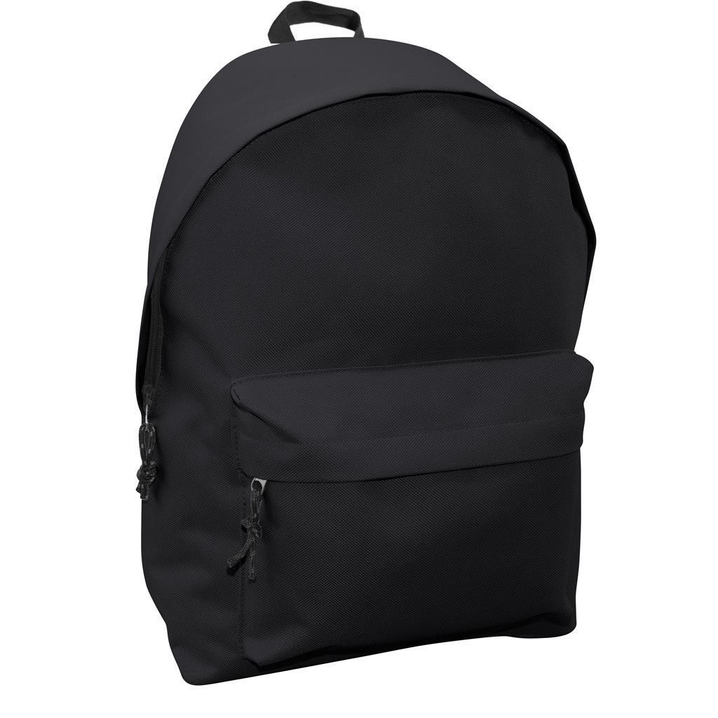 Τσάντα Πλάτης Εφηβική Mood Omega Μαύρη με 2 Θήκες
