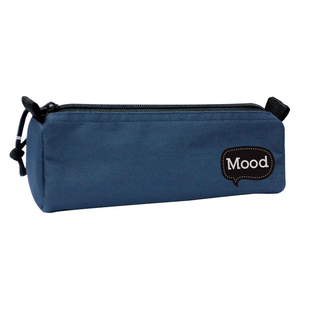 Κασετίνα Βαρελάκι Mood Chrome Μπλε με 1 Θήκη