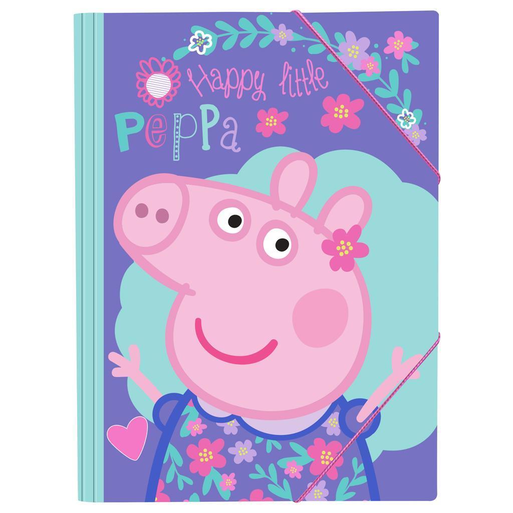 Φάκελος Λάστιχο Peppa Pig 25x35 εκ.