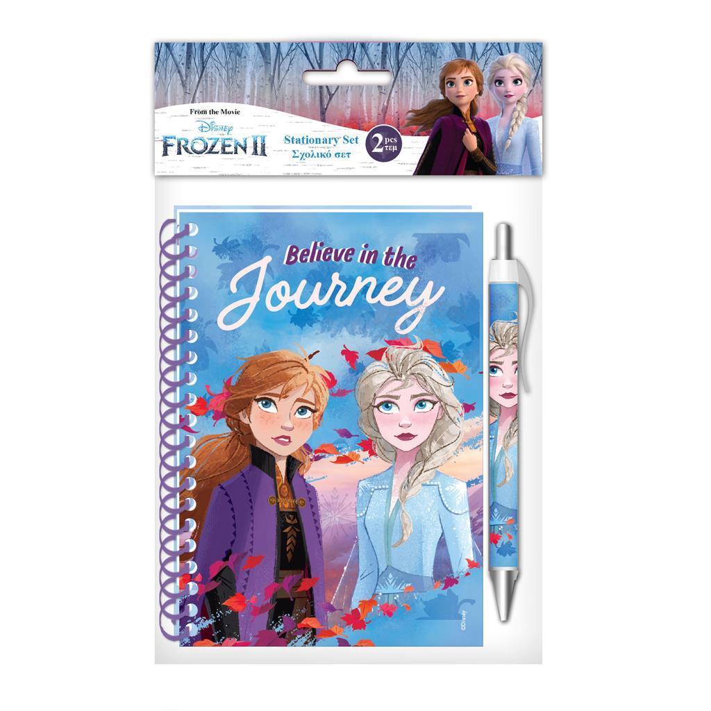 Σημειωματάριο με Στυλό Disney Frozen 2 10x15 εκ.
