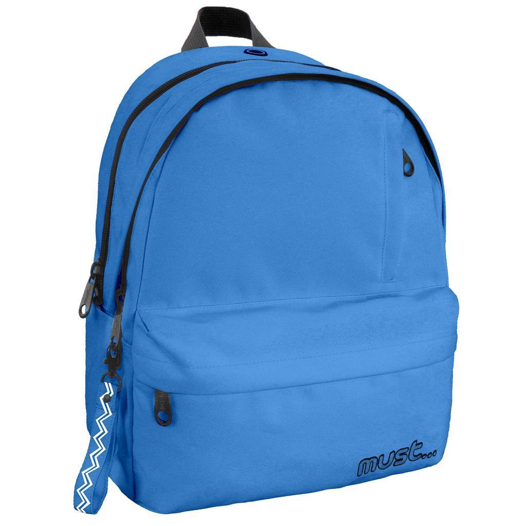 Τσάντα Πλάτης Must Monochrome Rpet Μπλε με 2 Κεντρικές Θήκες