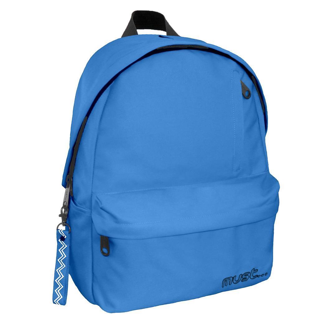 Τσάντα Πλάτης Must Monochrome Rpet Μπλε με 1 Κεντρική Θήκη