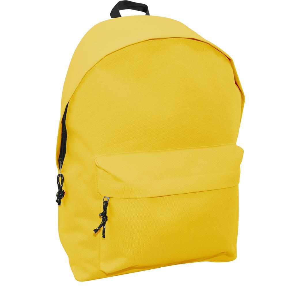 Τσάντα Πλάτης Εφηβική Mood Omega Κίτρινη Φωσφοριζέ με 2 Θήκες