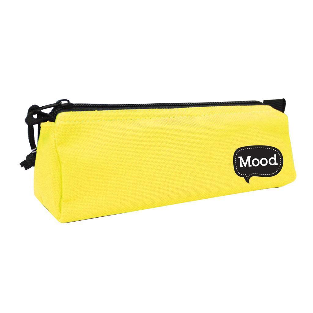 Κασετίνα Βαρελάκι Mood Chrome Κίτρινο Φωσφοριζέ με 1 Θήκη