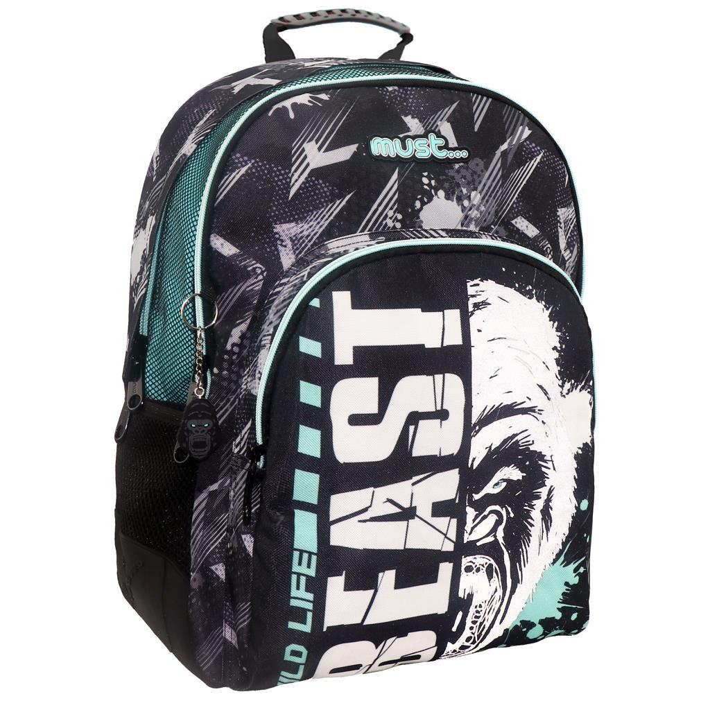 Σχολική Τσάντα Πλάτης Δημοτικού Must Energy Beast με 3 θήκες