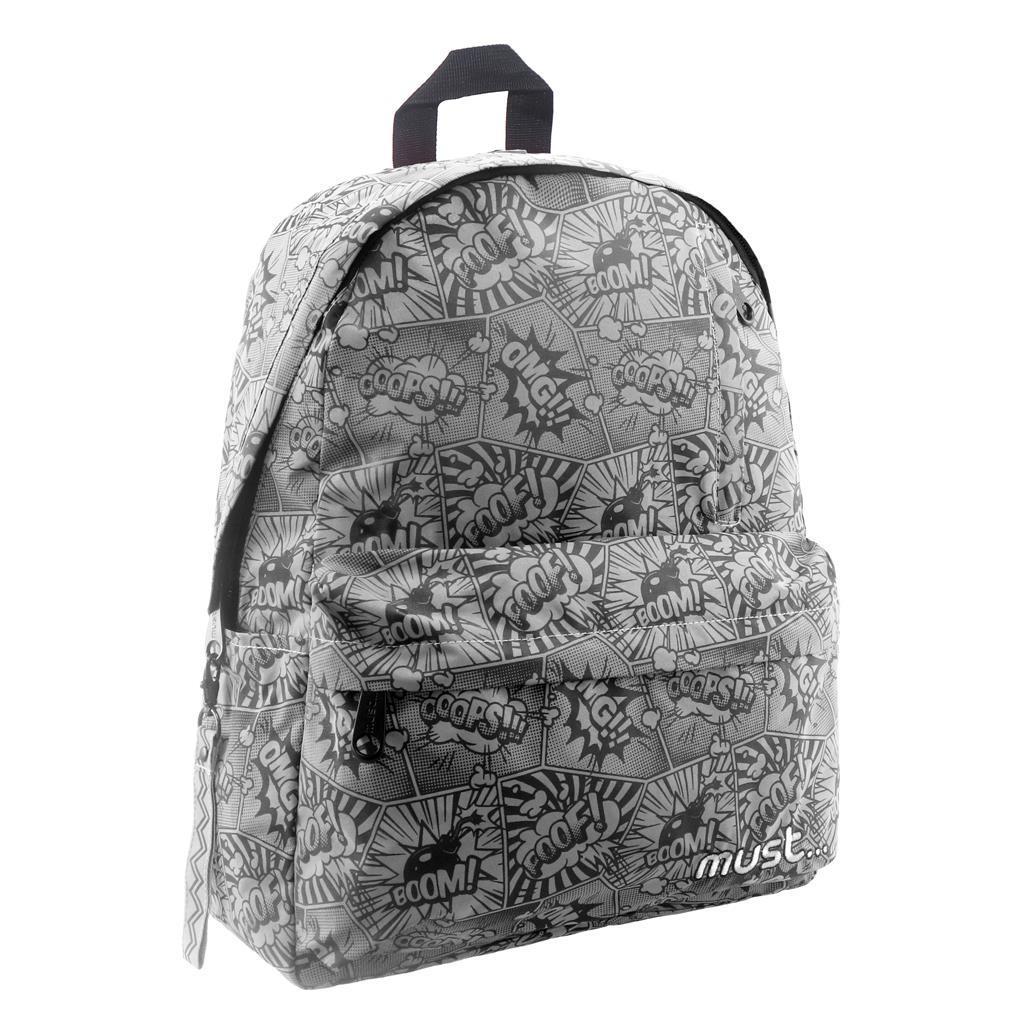 Ανακλαστική Τσάντα Πλάτης Must Reflect Design με 1 Κεντρική Θήκη