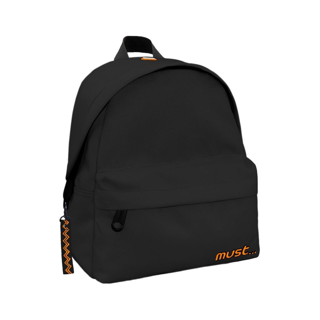 Τσάντα Πλάτης Must Monochrome Mini rPET Μαύρη με 2 Θήκες