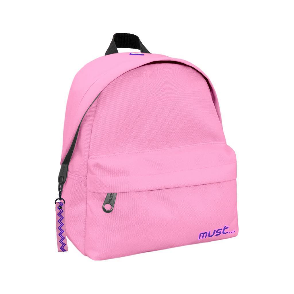Τσάντα Πλάτης Must Monochrome Mini rPET Ροζ Απαλό με 2 Θήκες