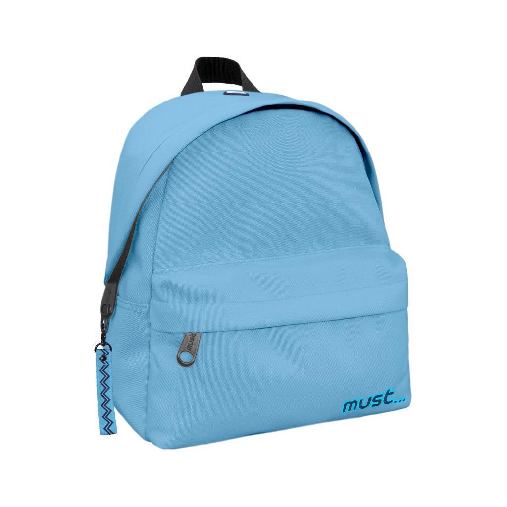 Τσάντα Πλάτης Must Monochrome Mini rPET Ανοιχτό Μπλε με 2 Θήκες
