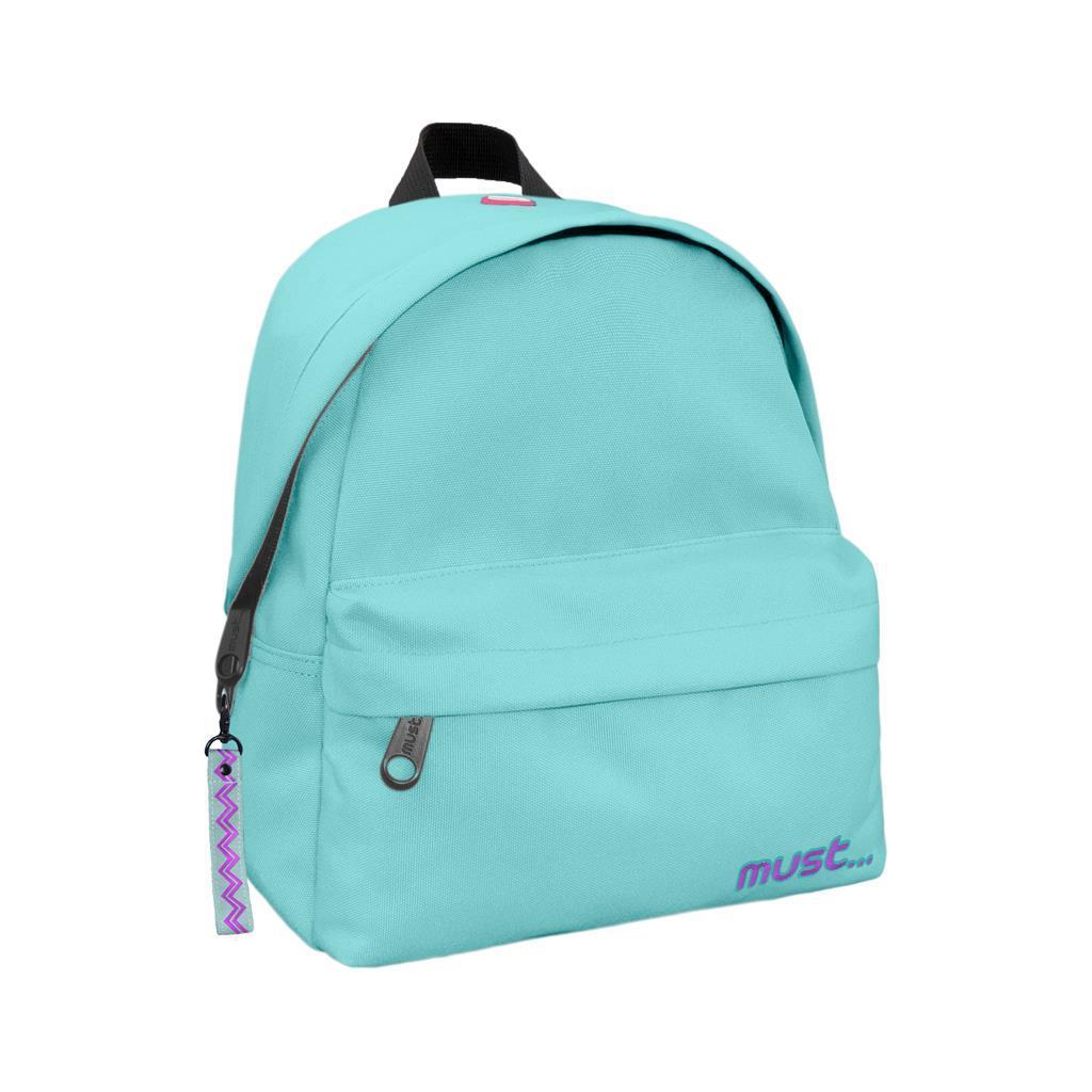 Τσάντα Πλάτης Must Monochrome Mini rPET Ανοιχτό Πράσινο με 2 Θήκες