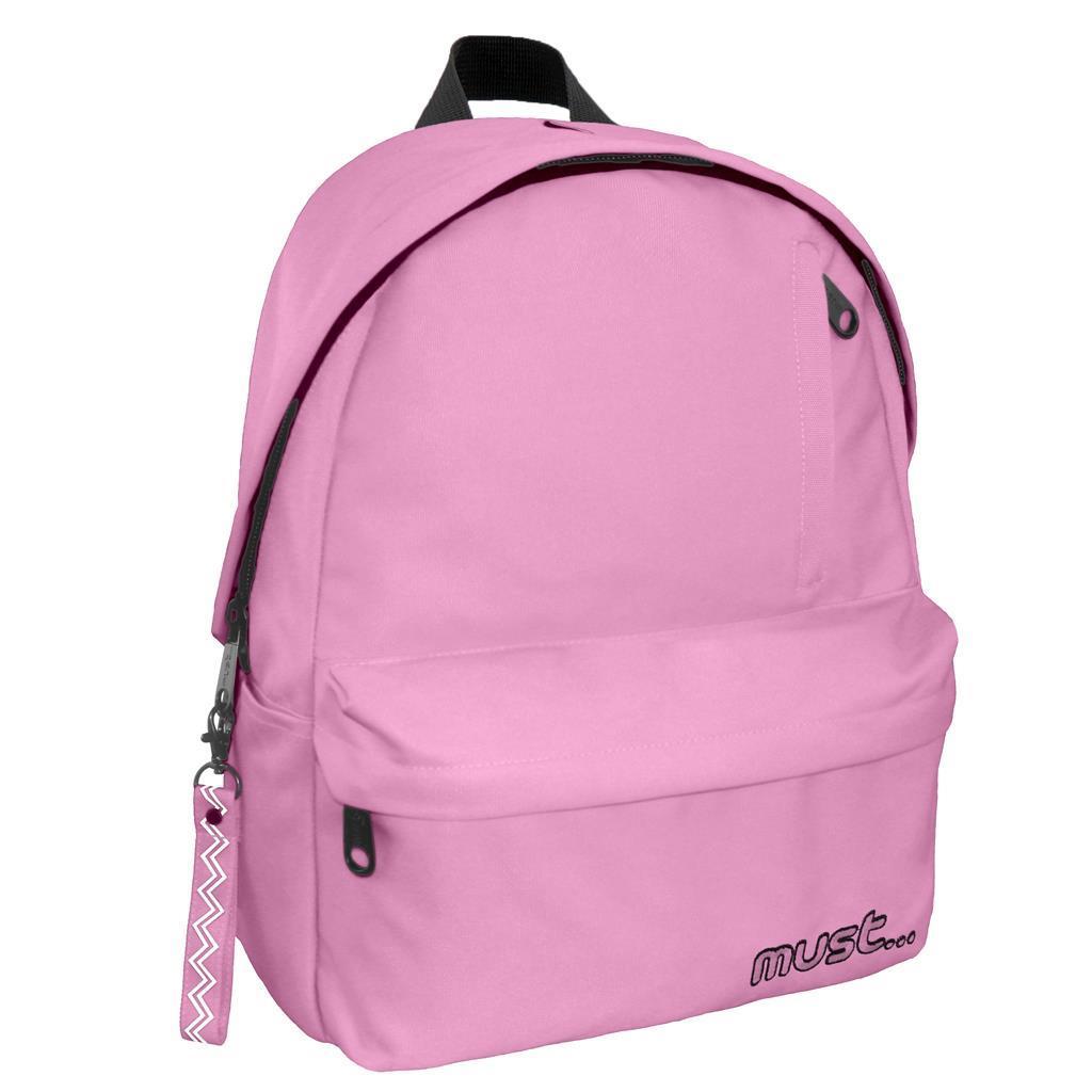 Τσάντα Πλάτης Must Monochrome rPET Απαλό Ροζ με 1 Κεντρική Θήκη