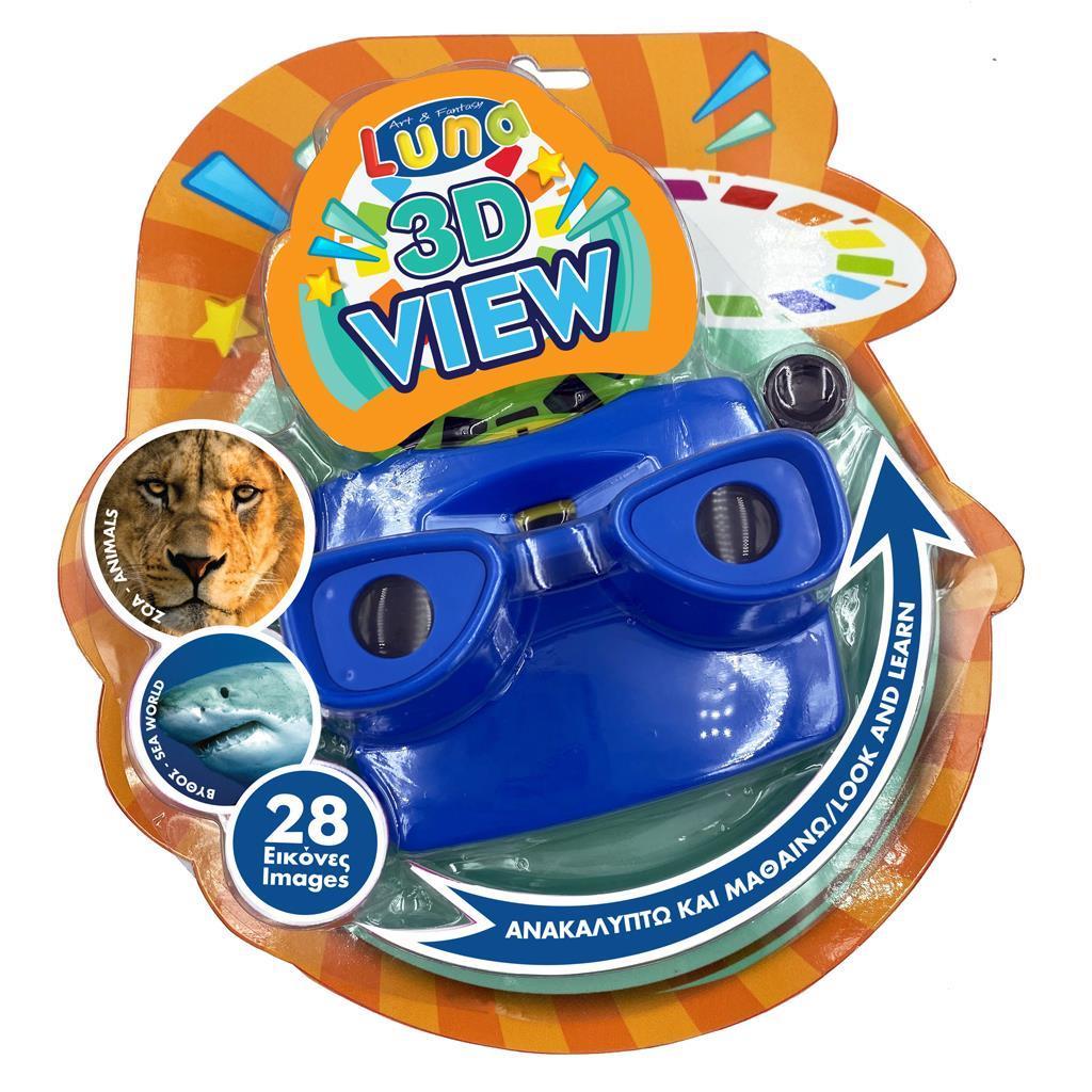 Κάμερα 3D Εικόνων με Δίσκους Ζώα της Ζούγκλας και της Θάλασσας Luna Toys