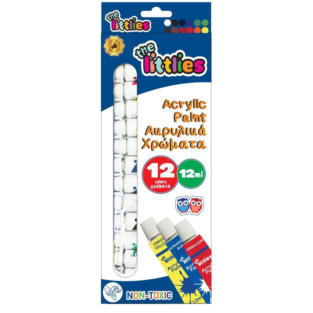 Ακρυλικά Χρώματα The littlies 12ml 12 Χρώματα