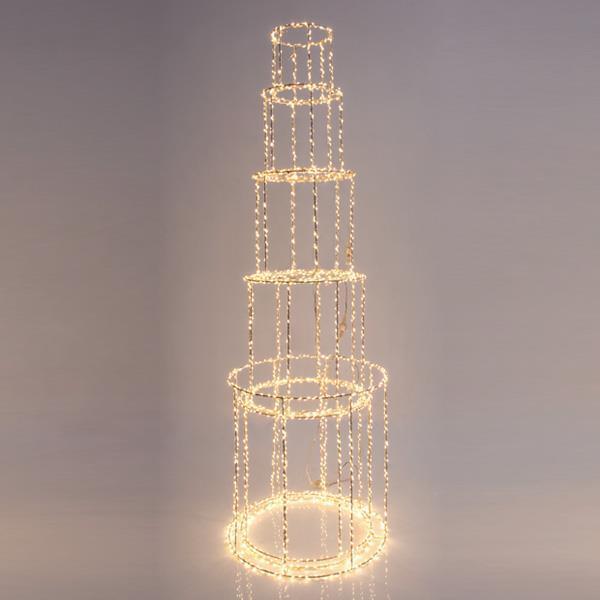 ΠΥΡΓΟΣ ΦΩΤΙΖΟΜΕΝΟΣ, 1310 ΘΕΡΜΑ LED, ΜΕ ΜΕΤΑΣΧΗΜΑΤΙΣΤΗ, ΧΑΛΚΟΥ, 60x25cm