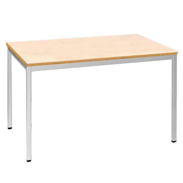 Nextdeco τραπέζι-γραφείο Υ75x160x80εκ. μεταλ. γκρι σκελετό - επιφ. σφενδάμου