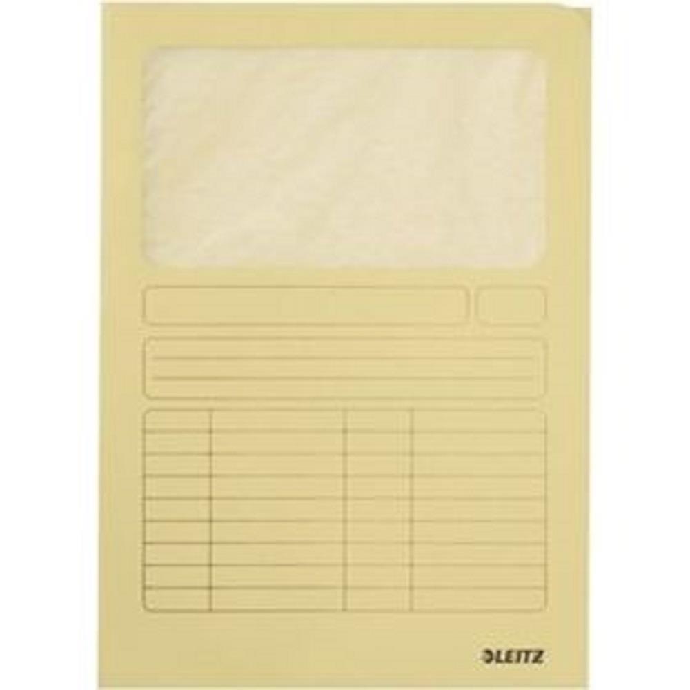 Ντοσιέ με παράθυρο Leitz 3950 κίτρινο