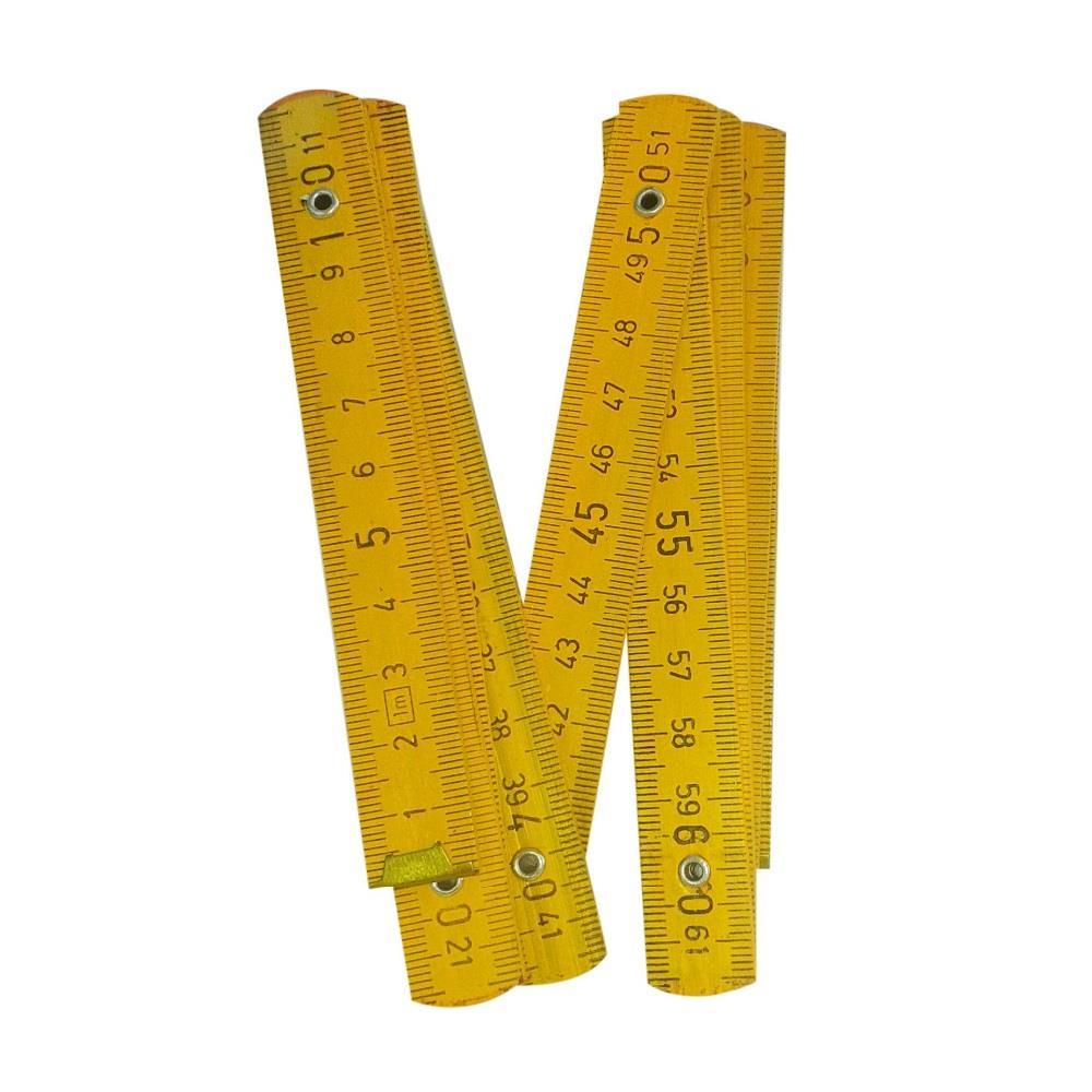 Μέτρο σχολικό ξύλινο γαλλικού τύπου σπαστό