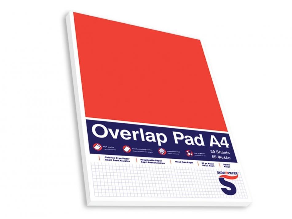 Μπλοκ Α4 Overlap Pad 50φ καρό κολλητό