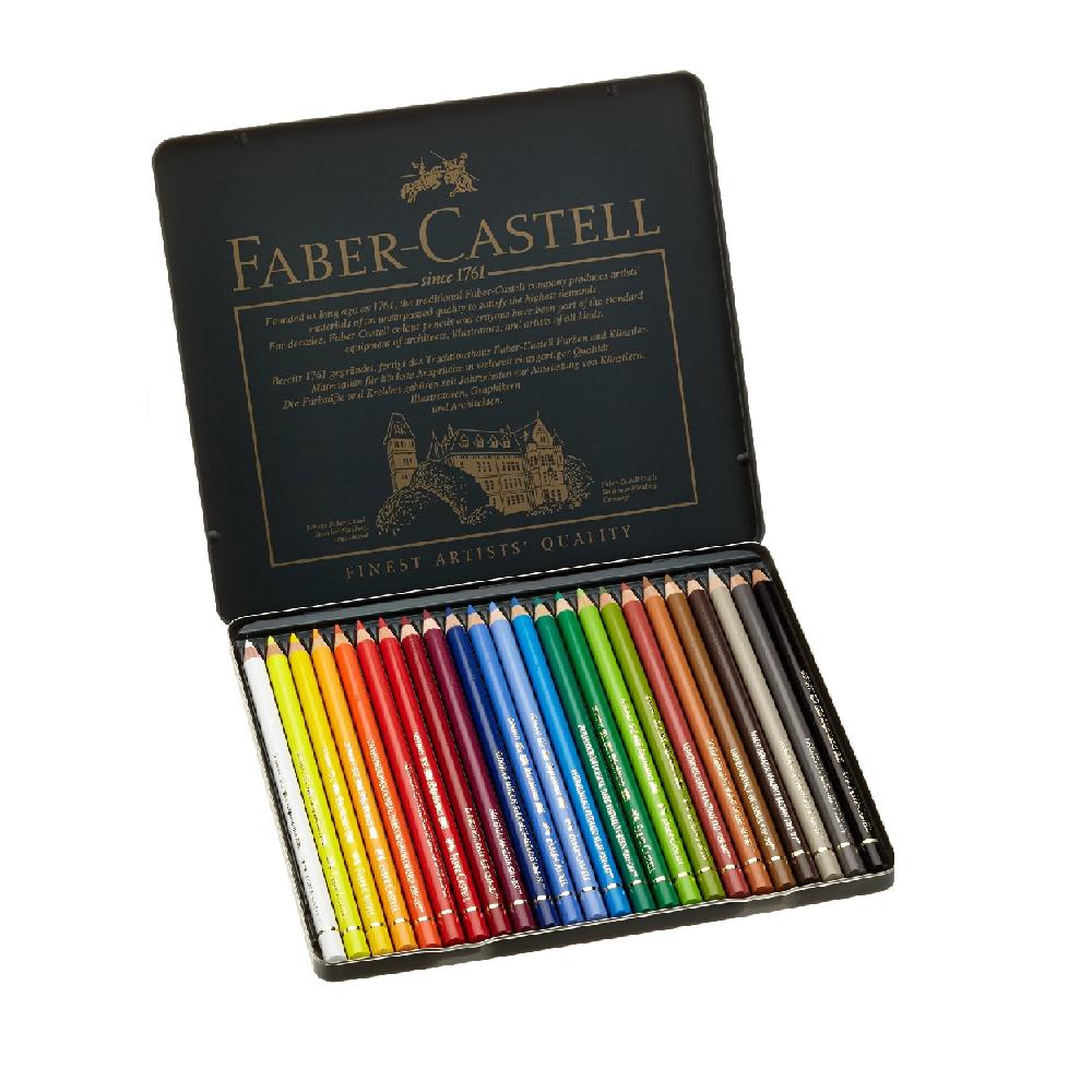 Ξυλομπογίες Faber 110024 Polychromos 24τεμ μεταλλική κασετίνα