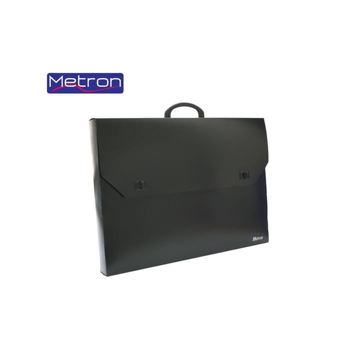 Τσάντα σχεδίου 59x73x5 cm Metron μαύρη