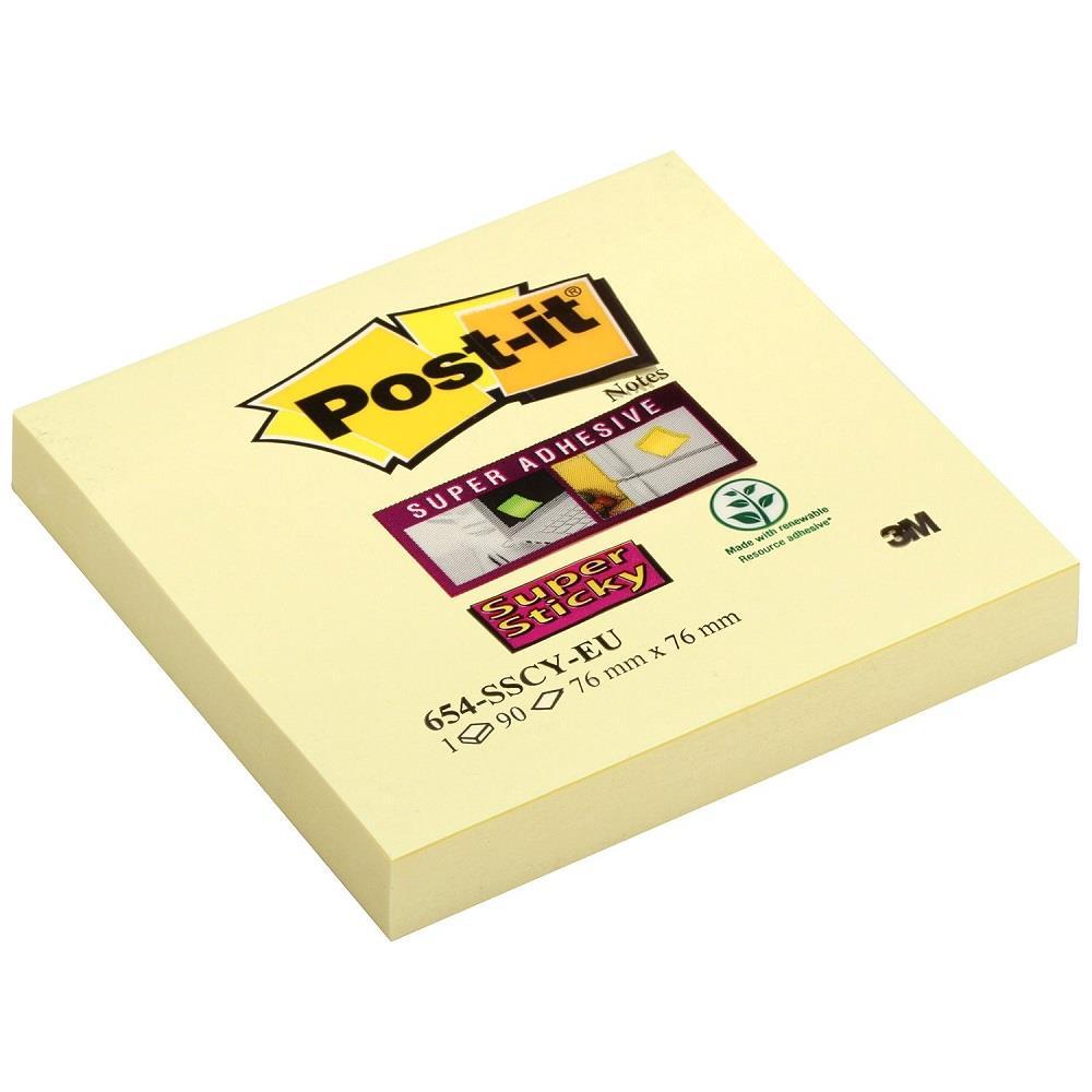 Χαρτάκια Post-it 3M 76x76 90Φ 654-SSCY