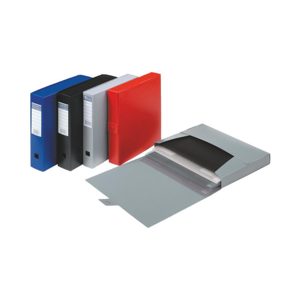 Κουτί πλαστικό Φplast κουμπί 7 cm μπλε