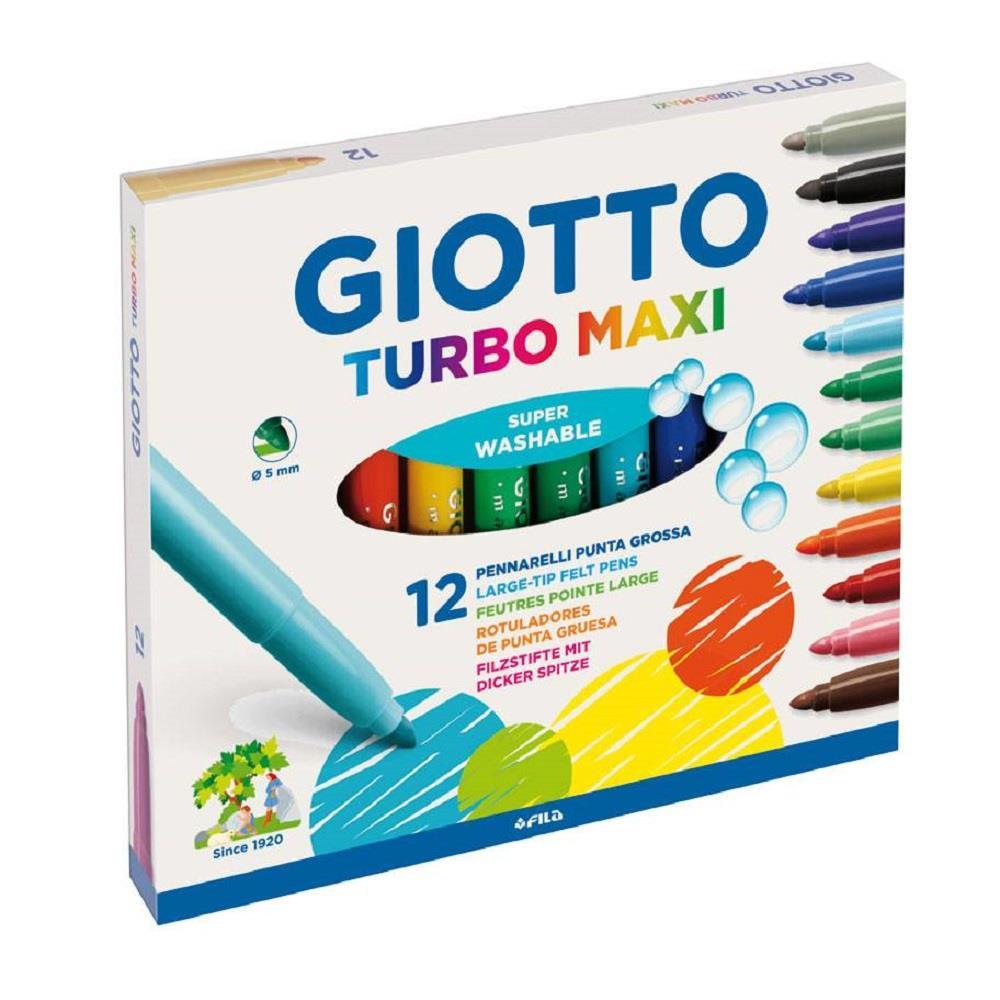 Μαρκαδόροι Giotto Turbo maxi χοντροί 12 τεμ.