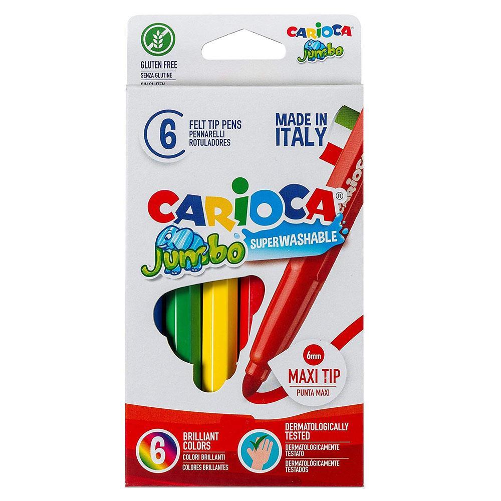 Μαρκαδόροι Carioca χοντροί 6 τεμ. 40568