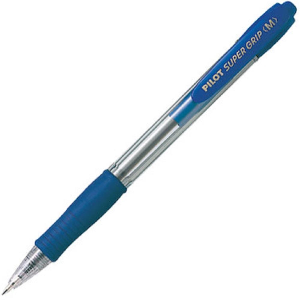 Στυλό Pilot super grip μπλε m