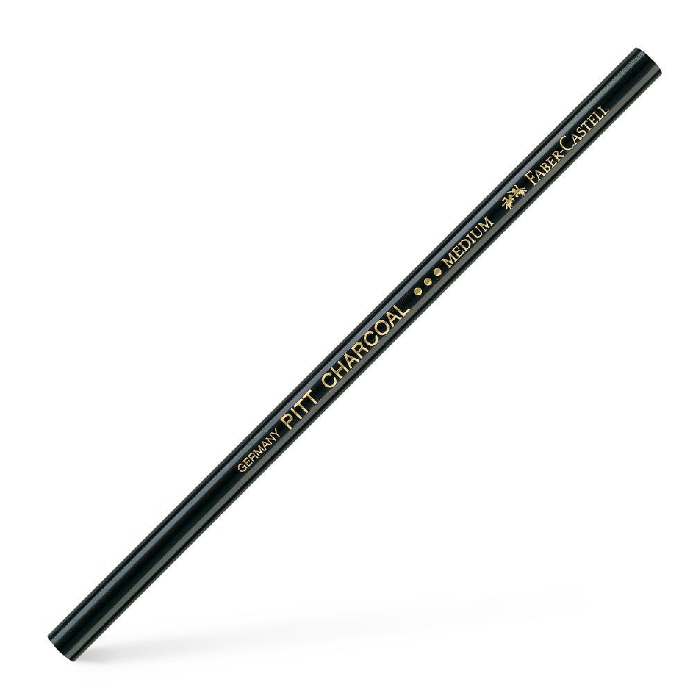 Μολυβοκάρβουνο Faber pitt charcoal medium 117400 μαύρο
