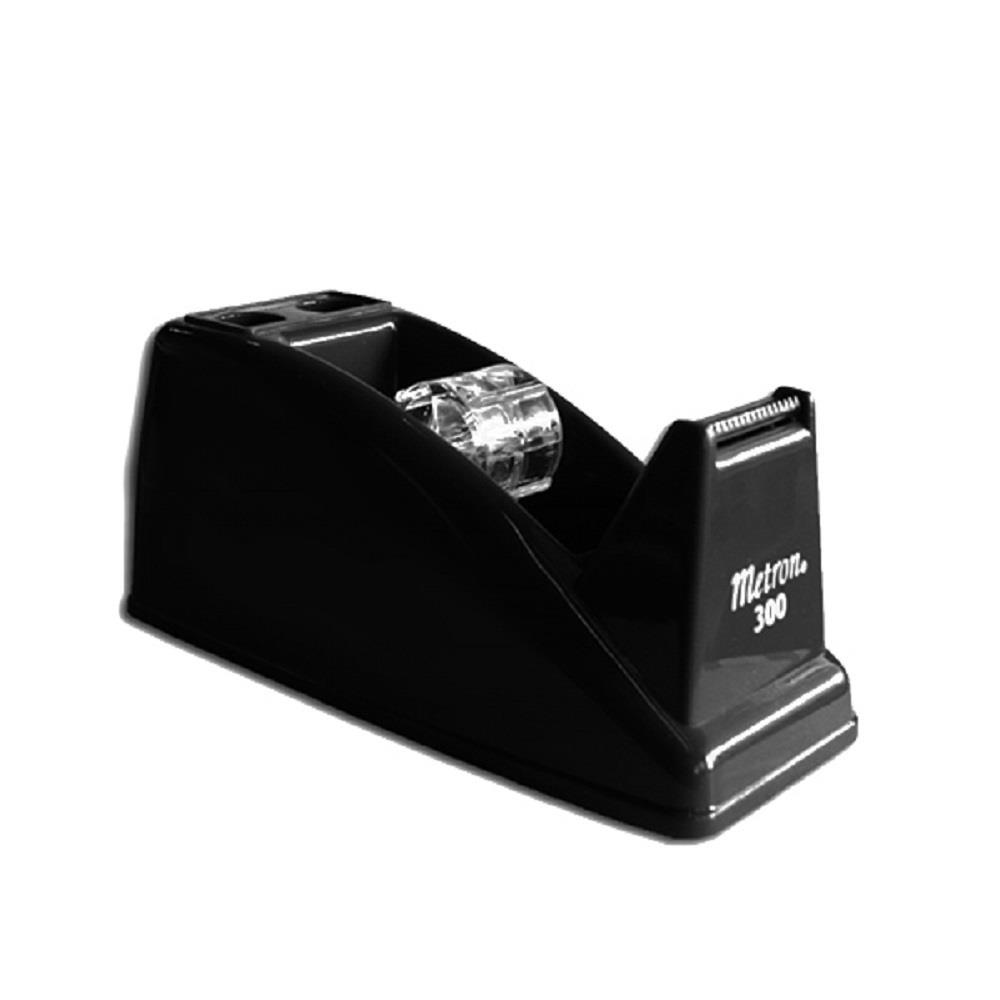 Βάση για σελοτέιπ & μολυβοθήκη Metron 300 μαύρη