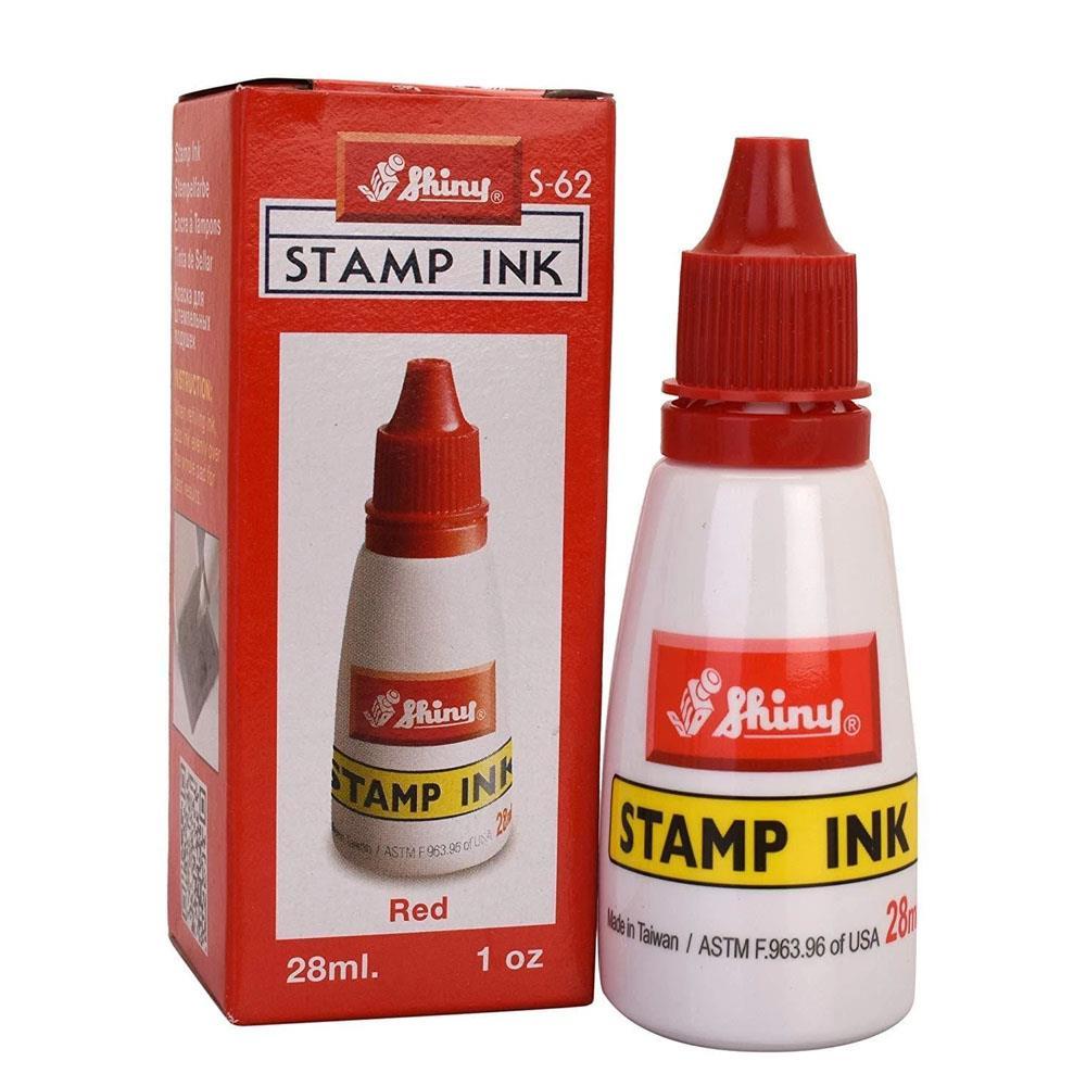 Μελάνι σφραγίδας Shiny S62 κόκκινο 28 ml