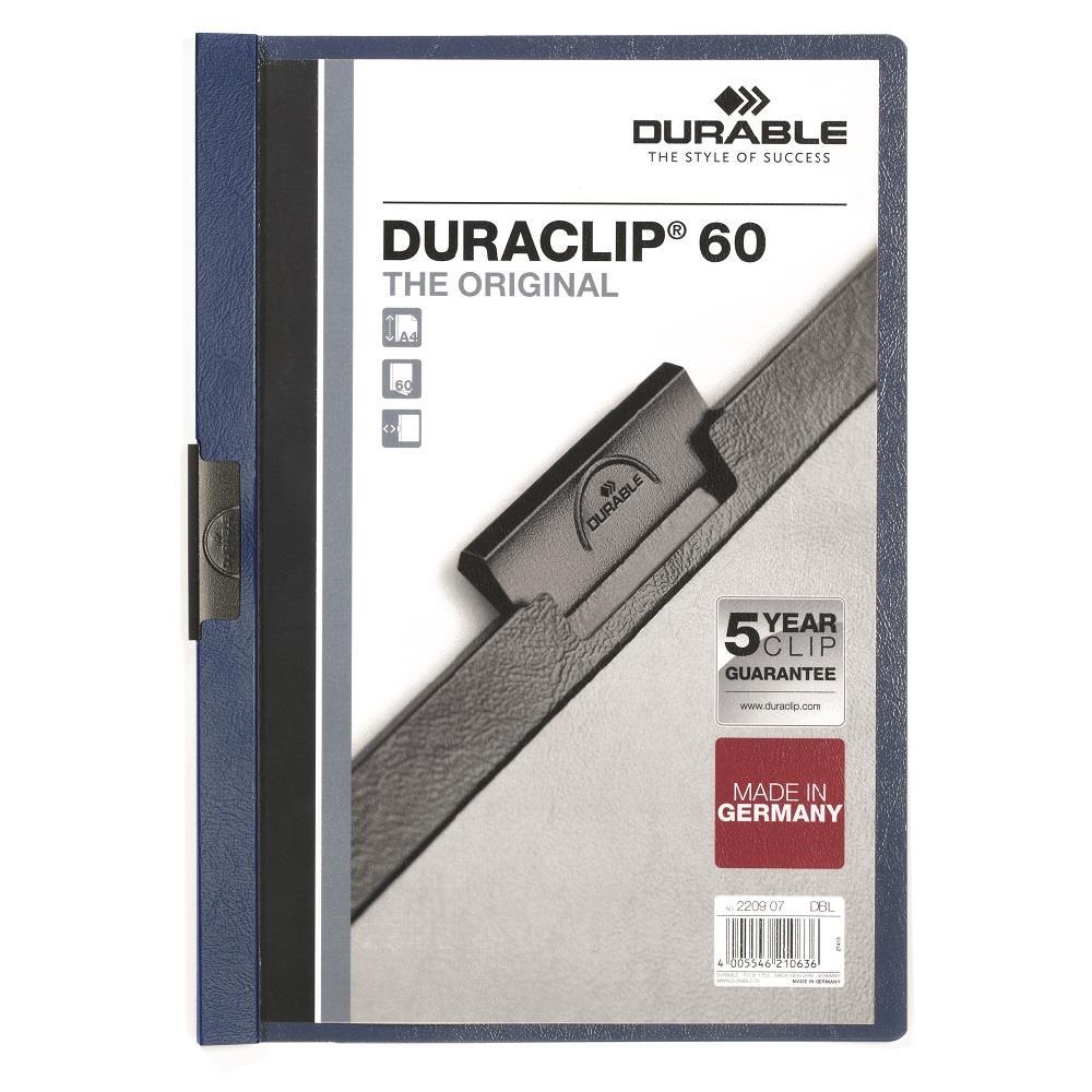 Ντοσιέ με κλιπ Duraclip 60 φ μπλε