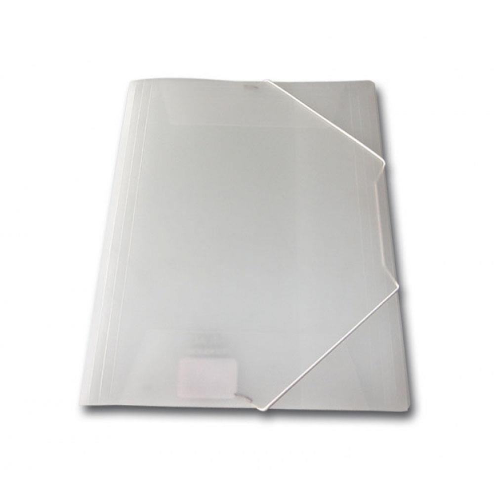 Ντοσιέ λάστιχο πλαστικό Skag διάφανο λευκό