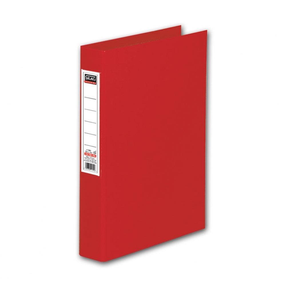 Ντοσιέ Skag Α4 με ετικέτα 4 κρικ κόκκινο