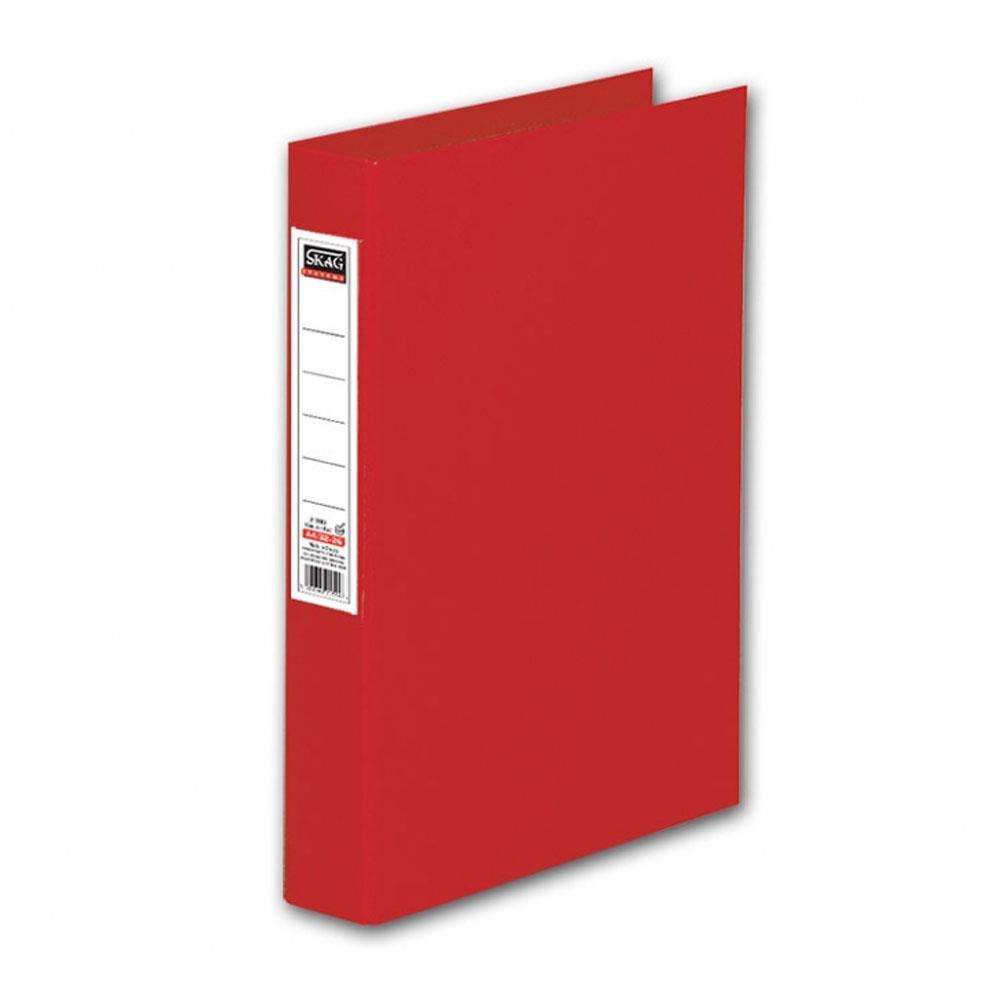 Ντοσιέ Skag Α4 με ετικέτα 2 κρικ κόκκινο