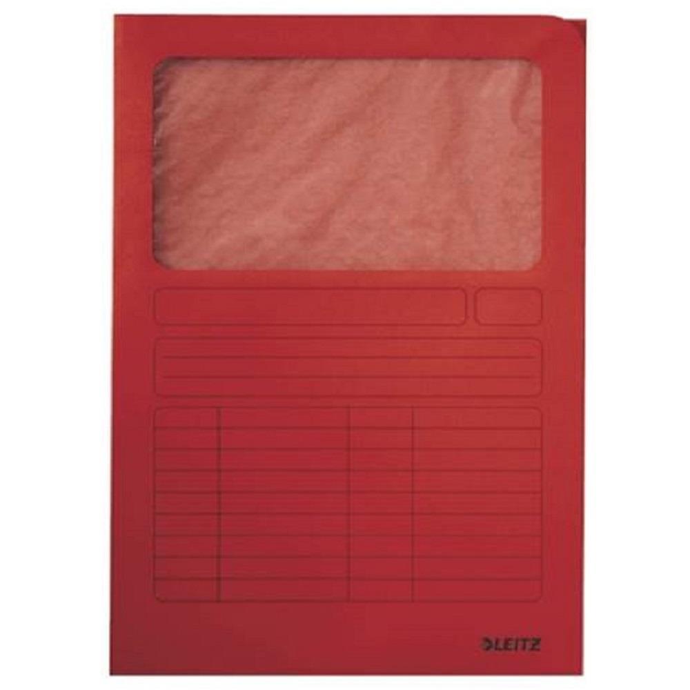 Ντοσιέ με παράθυρο Leitz 3950 κόκκινο