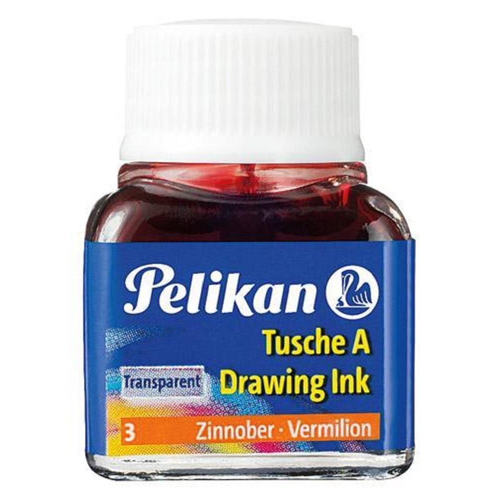 Σινική μελάνη Pelikan 10 ml κόκκινη βερμιλιόν 3