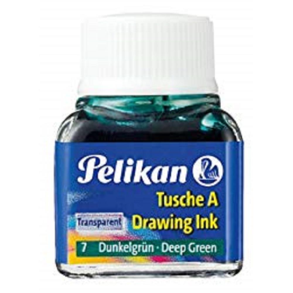 Σινική μελάνη Pelikan 10 ml σκούρα πράσινη 7