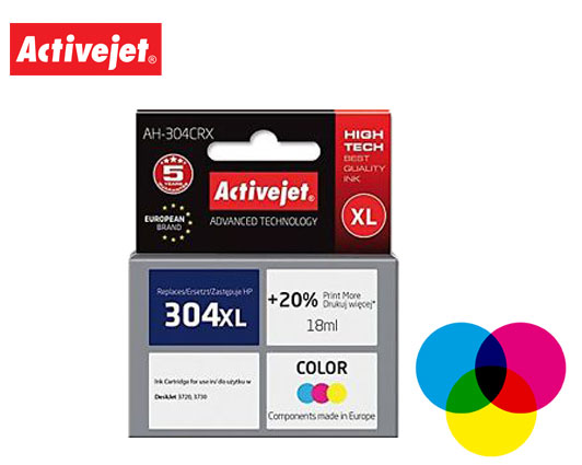 ACTIVEJET INK ΣΥΜΒΑΤΟ ΜΕ HP AH-304CRX #304XL TRICOLOR 18ml (Α) #N9K08AE
