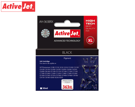 ACTIVE JET INK ΣΥΜΒΑΤΟ ΜΕ HP AH-363BRX #363XL BLACK 30ml (Α) #C8719EE