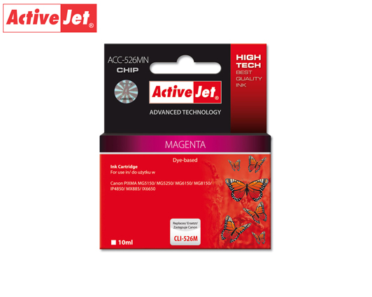 ACTIVE JET INK ΣΥΜΒΑΤΟ ΜΕ CANON ACC-526MN #CLI-526M MAG 10ml (Ν) #4542B001