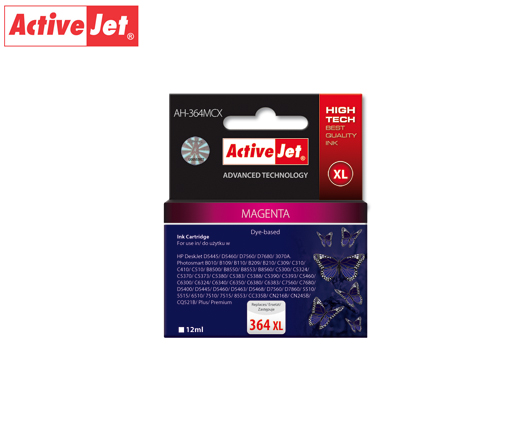 ACTIVE JET INK ΣΥΜΒΑΤΟ ΜΕ HP AH-364MCX #364XL MAGENTA 12ml (Α) #CB324EE