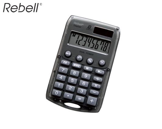 REBELL ΥΠΟΛΟΓΙΣΤΗΣ 8 ΨΗΦΙΩΝ 7x11x1cm STARLET-S ΓΚΡΙ
