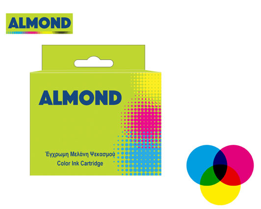 ALMOND INK ΣΥΜΒΑΤΟ ΜΕ HP #901 TRICOLOR 12ml (A) #CC656AE