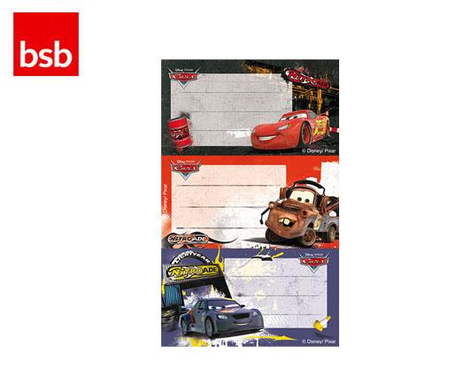 BSB ΕΤΙΚΕΤΕΣ ΣΧΟΛΙΚΕΣ ΠΑΡΑΣΤΑΣΕΙΣ 7.8x12.5cm CARS 3Φ.