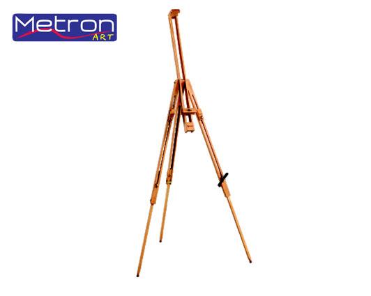 Καβαλέτο τρίποδο υπαίθρου εξοχής Metron ξύλινο 96x96x192cm