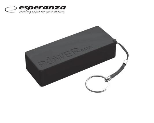 ESPERANZA POWER BANK 5V (5.000 MAH) ΜΑΥΡΟ